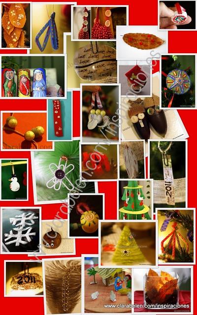 Inspiraciones manualidades y reciclaje como hacer for Como hacer adornos navidenos faciles