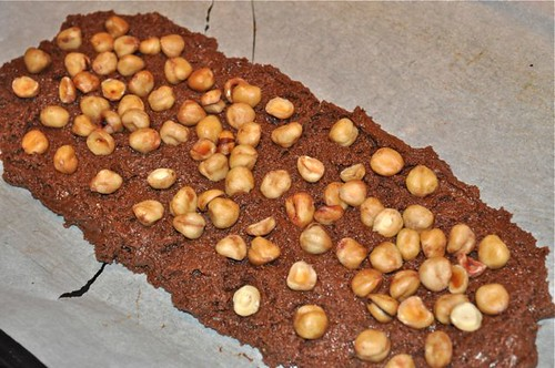 chocolate hazelnut biscotti/nuts