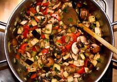 salad, vegetable, vegetarian food, food, caponata, cuisine, ratatouille,