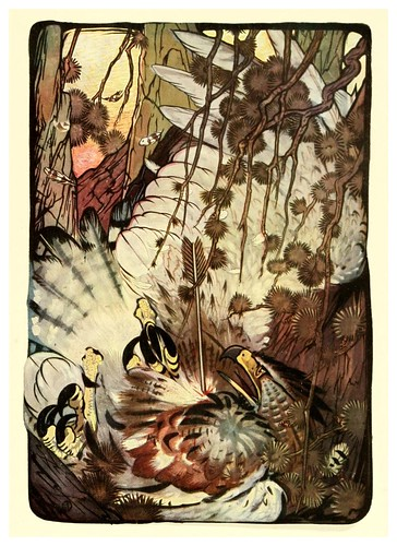 002-El aguila y la flecha-The fables of Aesop 1909-Edward Detmold