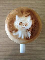 Today's latte, Octocat (github).