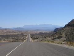Texas Highway 118 on the drive into Big Bend National Park
