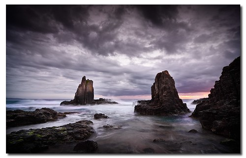 seascape sunrise downs coast rocks cathedral south nsw kiama