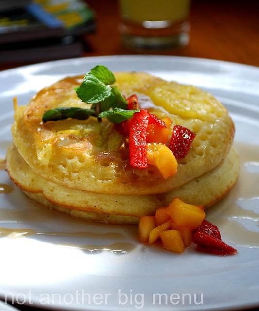 The Elysian, Bali - Pineapple pancakes