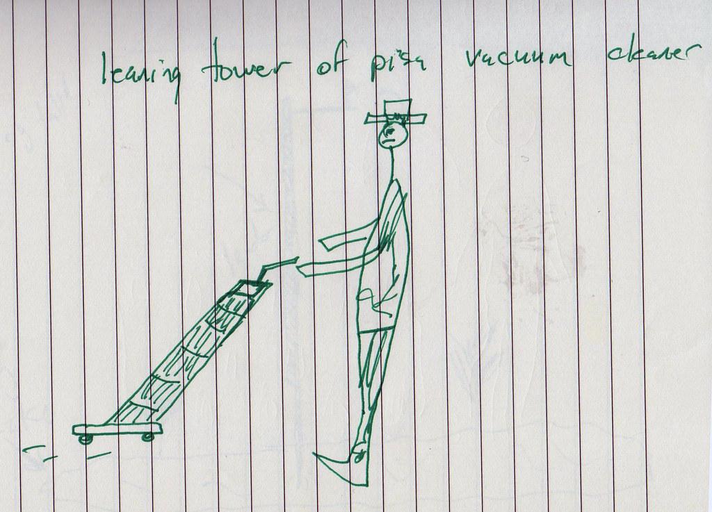 Original Sketch of The Leaning Tower of Pisa Vacuum Cleaner