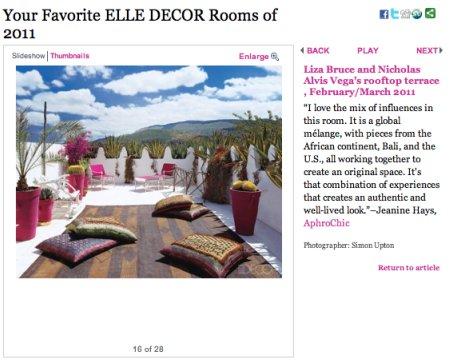 Jeanine Hays talks about her favorite Elle Decor Room for 2011