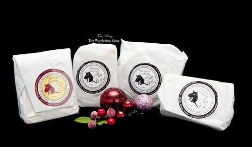 My four goat cheeses: Tomme Cuivrée, Tomette Rustique, Cascadian Frechette, Tomme de Sawtell