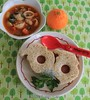 Minestrone Soup and Santa Sandwiches