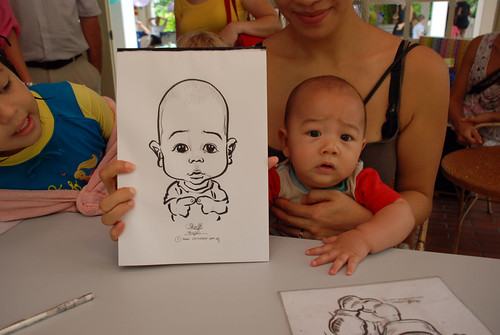 caricature live sketching for children birthday party 08 Oct 2011 - 8