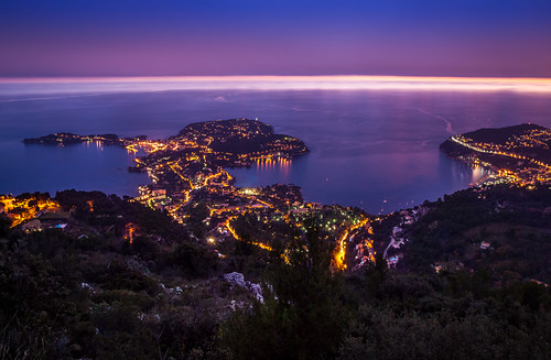 Villefranche Bay At Dusk