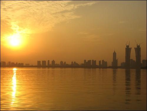 china christmas xmas sunset lake color colour yellow suzhou 2011 jinjilake
