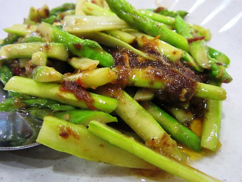MMS fried asparagus with XO sauce