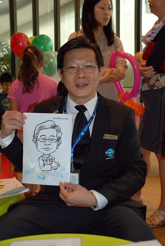 caricature live sketching for Foresque Residences Roadshow - Day 2 - 14