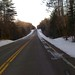 Rolling hills partial snow/ice coverage