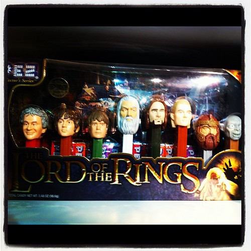 Nothing says 'authentic' like Lord of the Rings pez dispensers