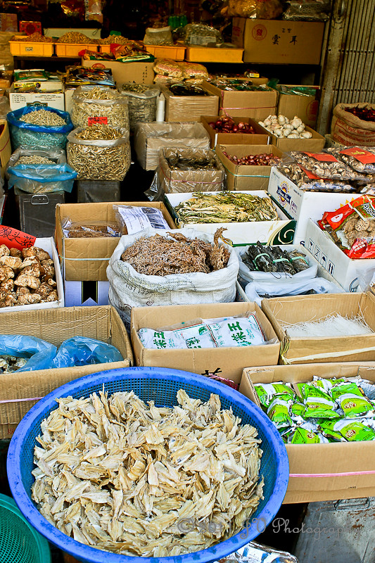 Abundance of Chinese dried foods