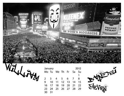 BANZAI7 DOWNLOADABLE JANUARY 2012 CALENDAR by Colonel Flick