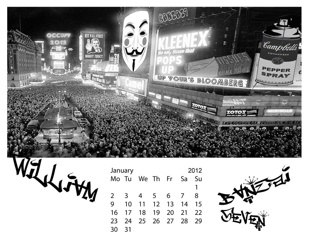 BANZAI7 DOWNLOADABLE JANUARY 2012 CALENDAR
