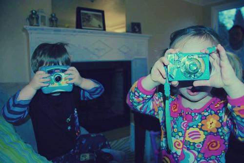 Toddler paparazzi