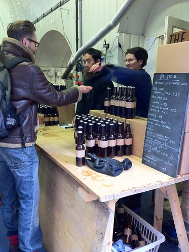 buying beer at the kernel brewery
