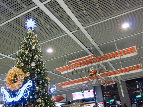 christmas tree & biplane
