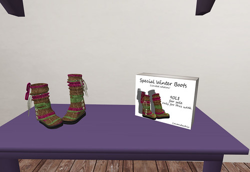 Lavandachic - Special Winter Boots, Limited Edition, 90 lindens by Cherokeeh Asteria