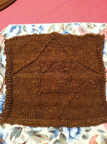 First square #2 for Great American Afghan done! by BlueDragon2