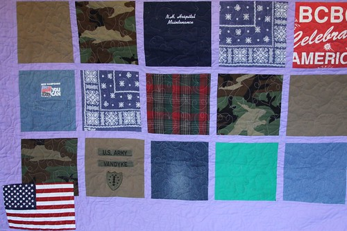 Military Memory Quilt NH Army National Guard