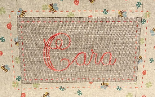 Pencil case Cara - name detail