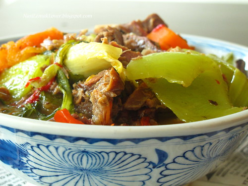 Assam Chai Ber ( Braised Sour Roast meat with Chinese mustard)