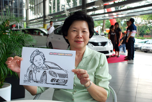Caricature live sketching for Tan Chong Nissan Almera Soft Launch - Day 1 - 7