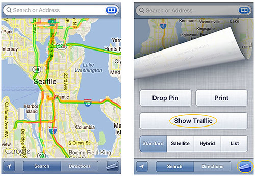 iPhone Maps Traffic Conditions