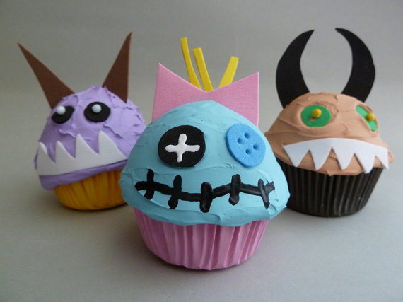 Cupcake headband, cupcake wine stoppers, cupcake doorknob pulls ...