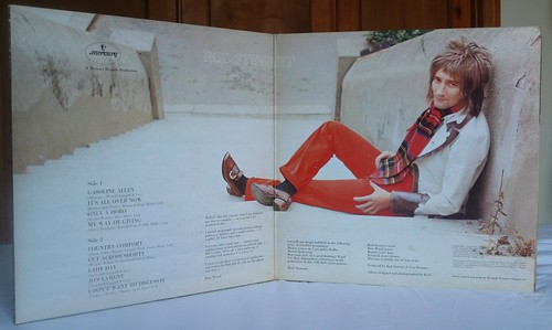 Inner gatefold, Gasoline Alley, Rod Stewart, Vertigo, 1970. Jacket: Lloyd Johnson/Colin Bennett. 500