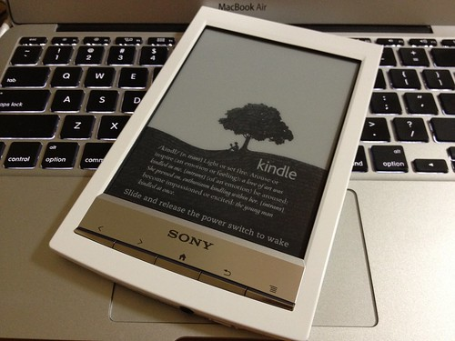 Kindle Screensaver on Sony Reader PRS-T1
