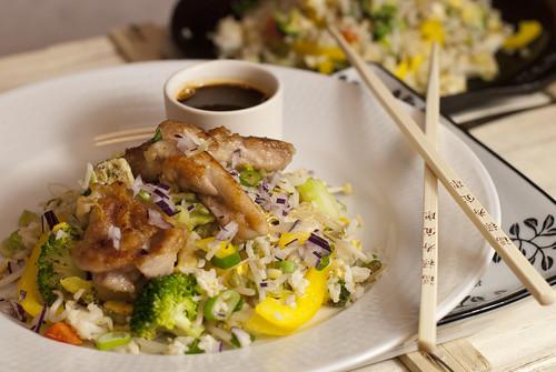 Fried rice med kyckling. Foto: Katarina Bellman, Middagsfrid.