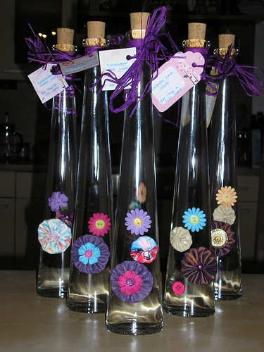 Linen water bottles for Christmas Fair