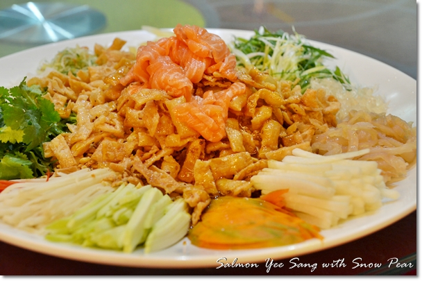 Salmon Yee Sang with Snow Pear
