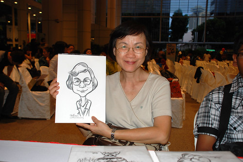 caricature live sketching for kidsREAD Volunteer Appreciation Day 2011 - 7