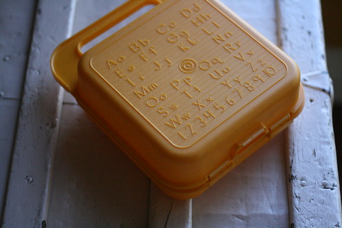 vintage tupperware lunch box.
