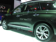 automobile, automotive exterior, sport utility vehicle, wheel, vehicle, infiniti qx70, compact sport utility vehicle, rim, auto show, crossover suv, land vehicle,