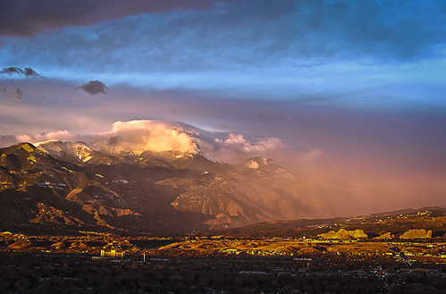 Pikes Peak Colorado Springs Alpen Glow