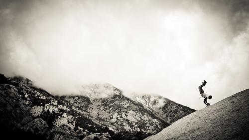 mountains rock clouds utah climbing saltlake granite handstand slab
