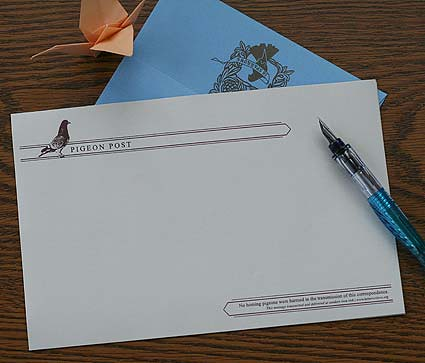 Pigeon Post Stationery