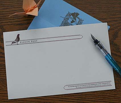 Pigeon Post Stationery