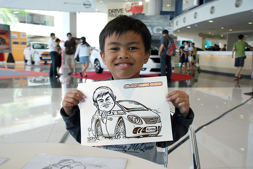 Caricature live sketching for Tan Chong Nissan Motor Almera Soft Launch - Day 3 - 10