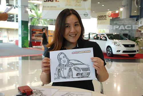 Caricature live sketching for Tan Chong Nissan Motor Almera Soft Launch - Day 3 - 22