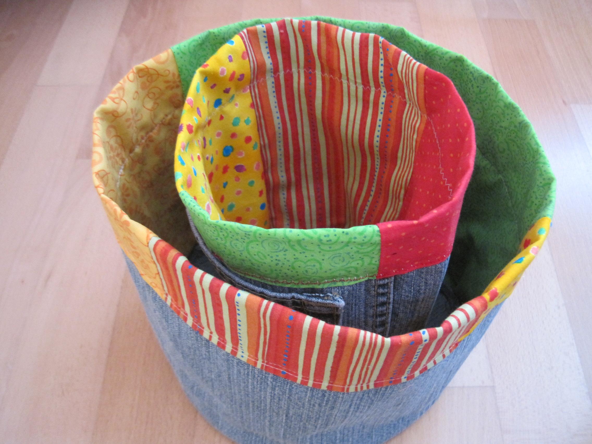 fabric buckets