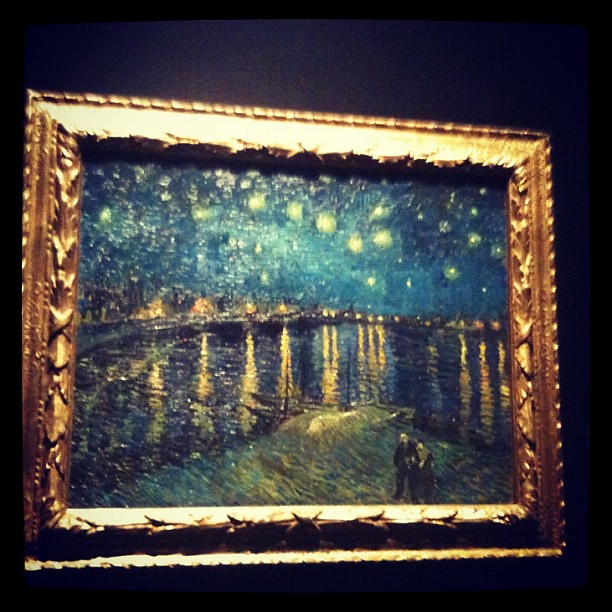 "the other ""starry night"" by van gogh on exhibit at natl museum of sg"