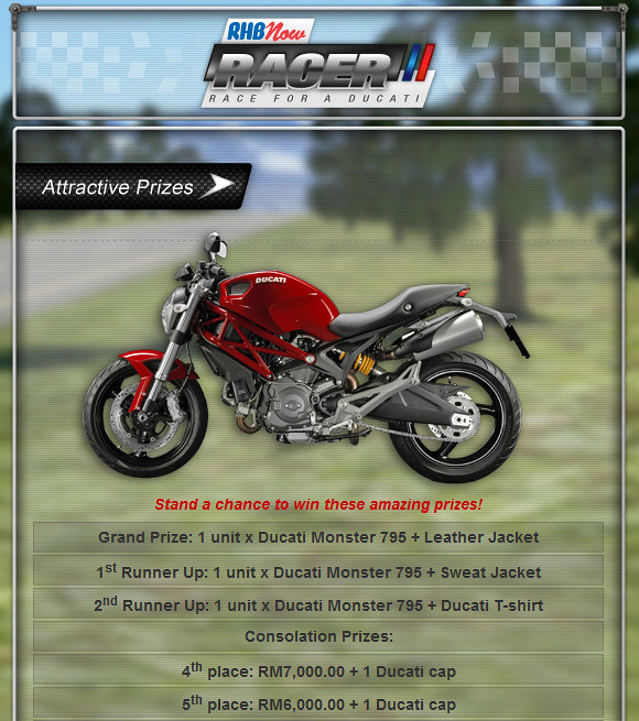 RHB Now Racer Ducati Contest | TianChad.com